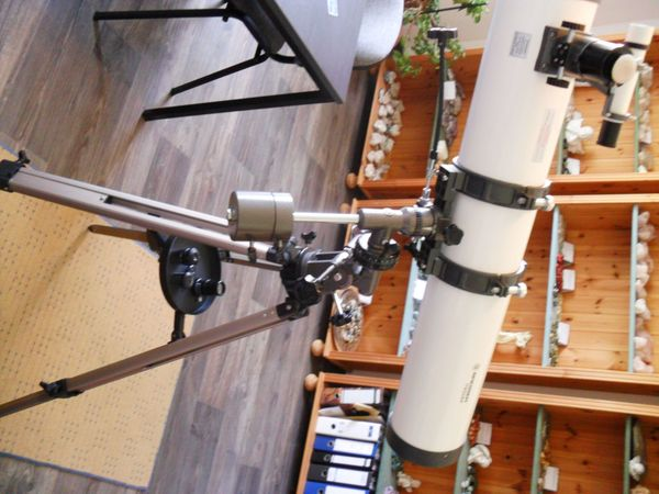 Teleskop reflektor bresser messier montierung in