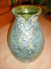 Alte Silberdistel Fayencen Blumenvase mit