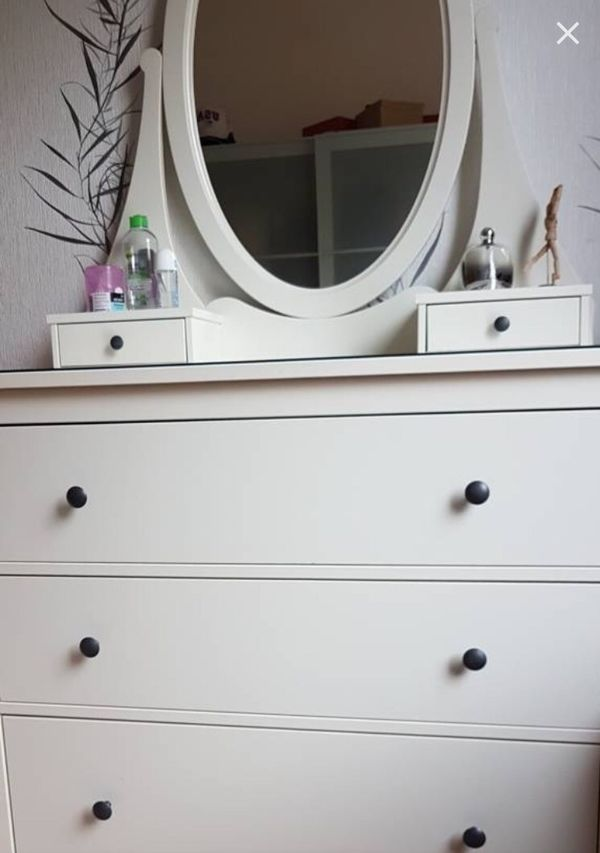 Ikea schminktisch hemnes  Ikea Hemnes Spiegelkommode weiß Schminktisch Frisiertisch Kommode ...