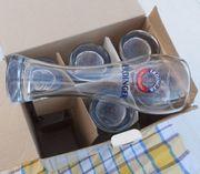 6 Weizen- Biergläser ERDINGER von