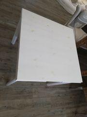 Landhaus Tisch weiß 80x80