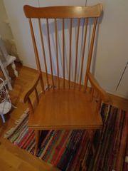 toller Schaukelstuhl Stuhl massiv hochwertig