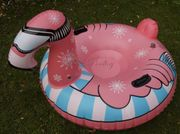 Winterlicher Rutsch Schwimmreifen im Flamingo