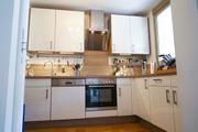 Moderne Einbauküche L-Form weiß hochglanz