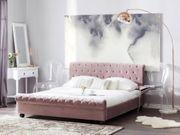 Polsterbett rosa Lattenrost 160 x