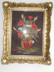 handgesticktes Gobelin Blumen