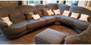 Couch L-Form Sessel mit Relax