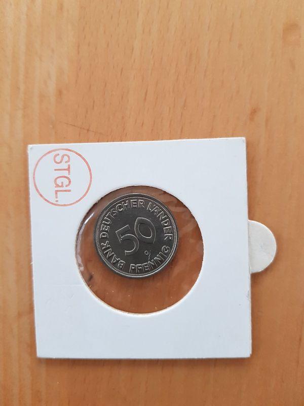 50 Pfennig Bdl 1950 G In Erhaltungsgrade St In Haßloch Münzen