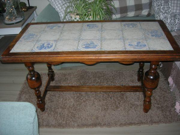 Fliesentisch Tisch Mit Delfter Fliesen Schöner Beistelltisch Massiv - Fliesen günstig kaufen münchen