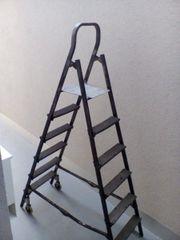 Stehleiter fahrbar-absenkbare