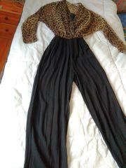 Damen-Overall mit Leoparden-Druck-Oberteil