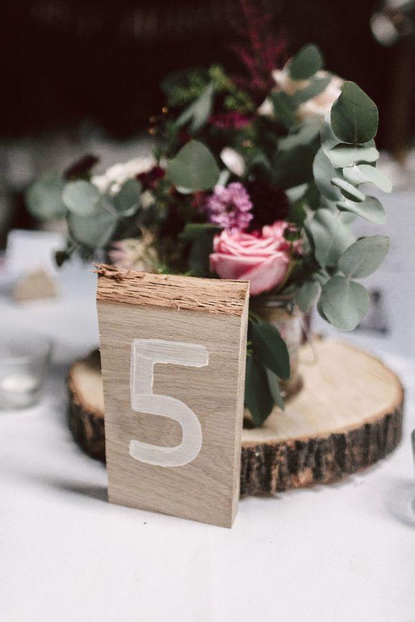 Tischnummern 1-10 aus Holz Hochzeitsdeko