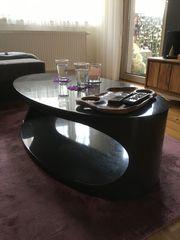 Verkaufe Couch Tisch - oval - dunkelgrau