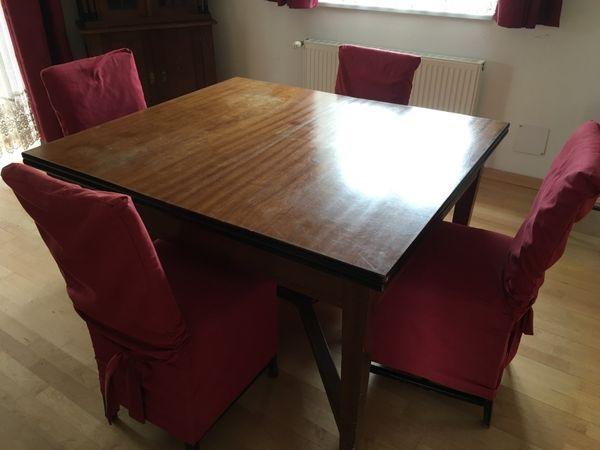 tisch mit 6 st hlen jugendstil ausziehbar in bregenz. Black Bedroom Furniture Sets. Home Design Ideas