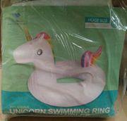 XL aufblasbarer Schwimmreifen Einhorn Style