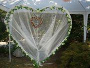Deko-Herz groß 2 Ständerherzen - Hochzeit