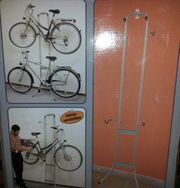 Fahrrad Wandhalterung NEU Metallic-Look für