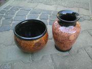 Vase und Schale Blumenvase