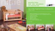 Echtholz-Kinderbett-Sofa-Schreibtisch- alles in einem