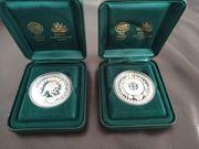 2 Silbermünzen Australien Sydney 2000