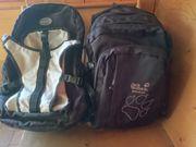 Zwei Rucksäcke Pack-Grek grau-schwarz Jack