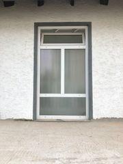 Treppenhausfenster weiß vierteilig mit Oberlicht