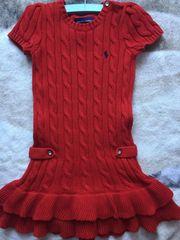 Ralph Lauren Strickkleid rot Abendkleid