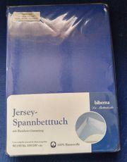Neu und OVP Jersey-Spannbetttuch mit