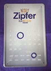 Zipfer Kalender Schild