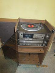 Musikschrank Grundig mit 70 Schallplatten