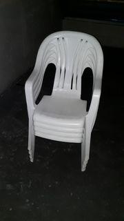 4 Stück Kunststoff Gartenstühle Marke