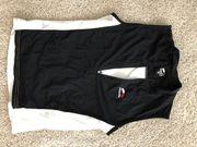 Verkaufe Skinfit Radshirt ärmellos schwarz-weiss