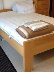 hochwertiges Hülsta-Bett Eiche furniert mit