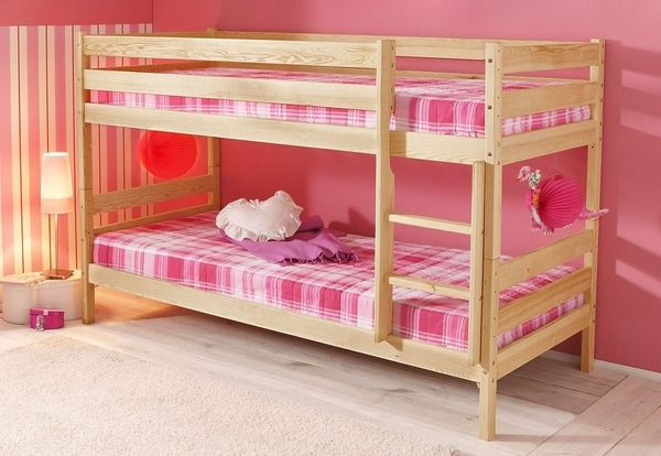 Neu Etagenbett Silenta 90x200 Kinder Bett Massiv Holz Bio Hochbett