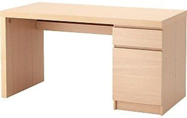 Schreibtisch ikea malm  Ikea MALM Schreibtisch (birke) in Ettlingen - IKEA-Möbel kaufen ...