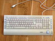 Multimedia-Tastatur USB Deutsch-Russisch Kyrillisch Perixx