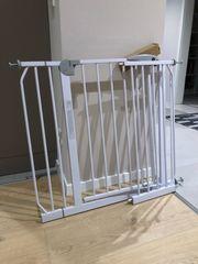2x Tür und Treppenschutzgitter