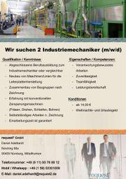 Wir suchen 2 Industriemechaniker m