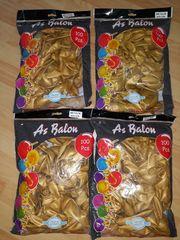 4 metalik Luftballons gold