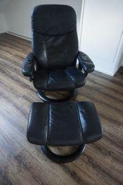 Stressless Sessel Leder schwarz mit