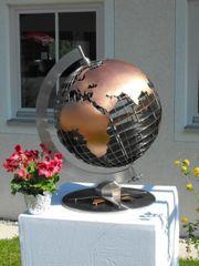 Globus aus Edelstahl EINZELSTÜCK