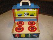 Klappbare Kinderküche, Holzküche,
