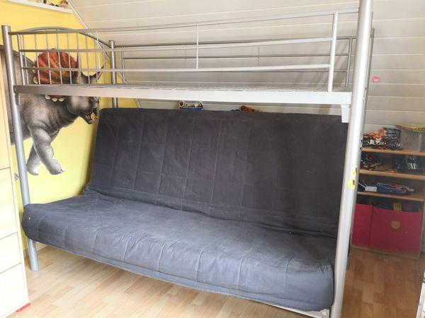 Etagenbett Quoka : Hochbett mit klappsofa couch etagenbett grau anthrazit