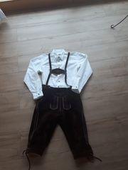 Lederhose und Trachtenhemd Knaben