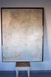 Verwaltungs Verkehrskarte Landkarte Baden Würtemberg
