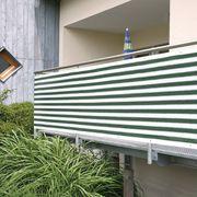 Balkon- Zaunsichtschutz Oliv Grün Weiß
