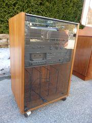 Vintage Stereoanlage Plattenspieler Tuner Cassettendeck