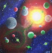 Universum- Mystik- Gemälde von der