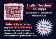 Englischunterrichten über Skype