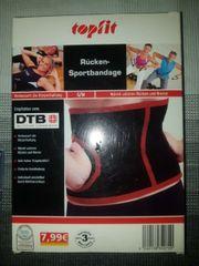 Rücken-Sportbandage Neu